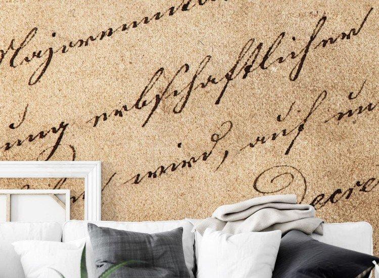 Винтидж фототапети-Фототапет Ръкописен текст