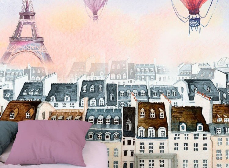 Детски фототапети-Фототапет Балони над Париж