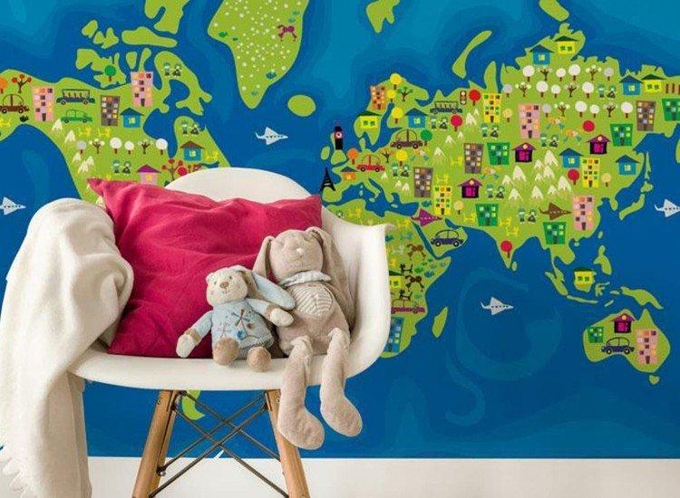 Детски фототапети-Фототапет Детска карта