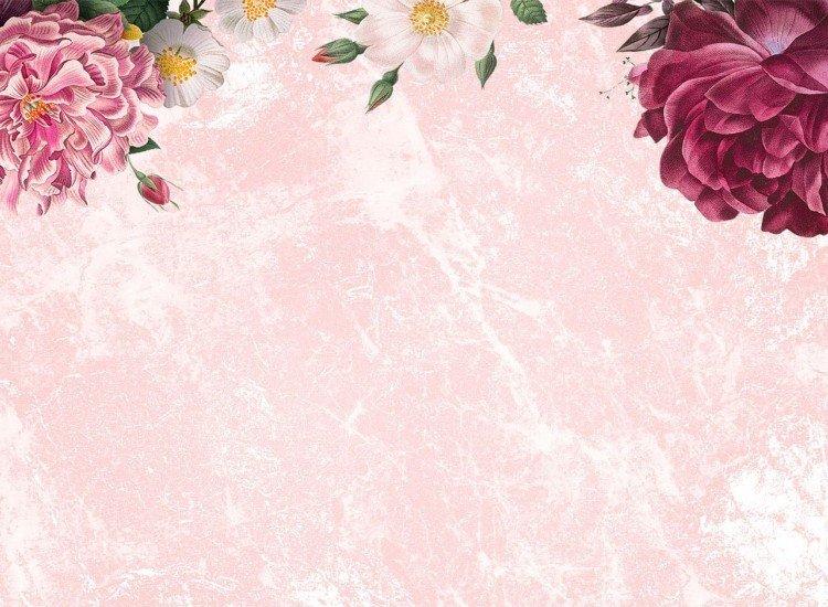 Цветя-Фототапет Цветове върху розова текстура