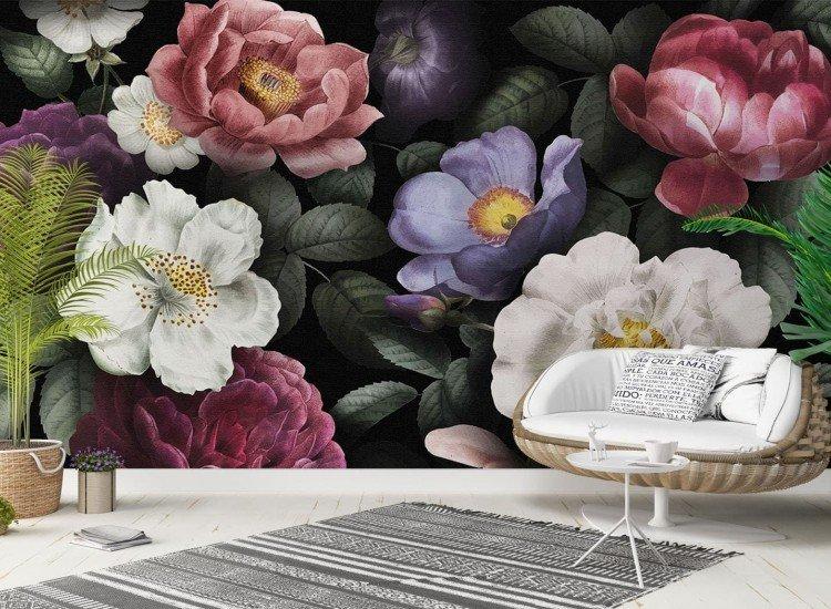 Цветя-Фототапет Красив фон от рози