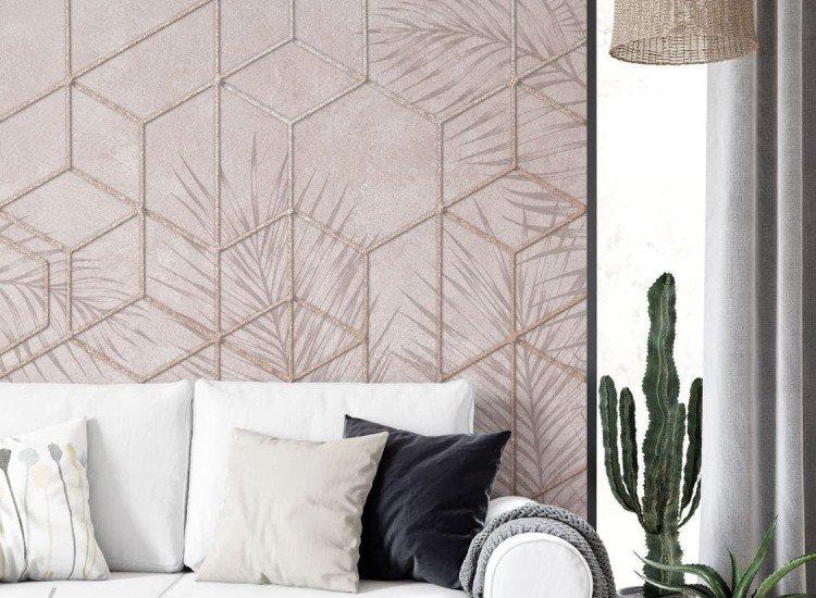 Фототапет Топла абстракция с тропически листа