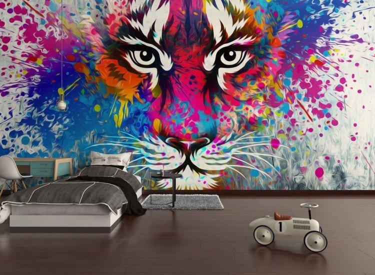 Тийн-Фототапет Цветен тигър