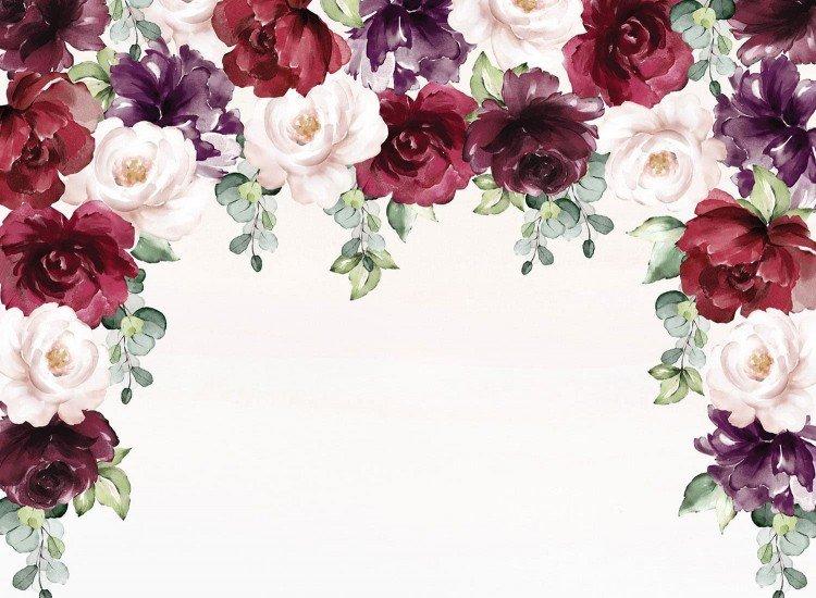 Цветя-Фототапет Акварелни градински рози