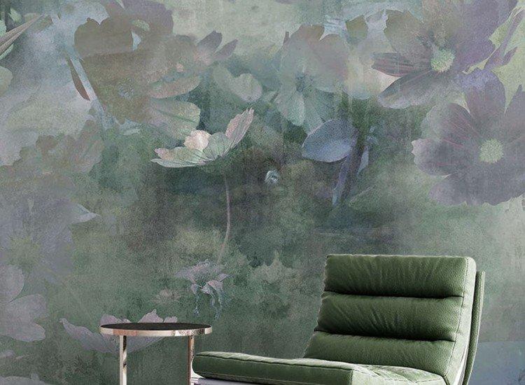 Цветя-Фототапет Зелени цветя