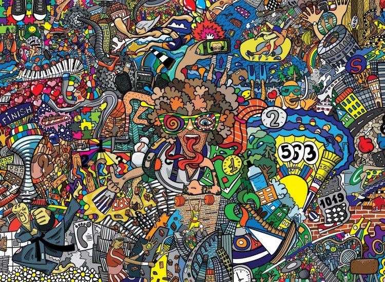 Тийн-Фототапет Графити илюстрация
