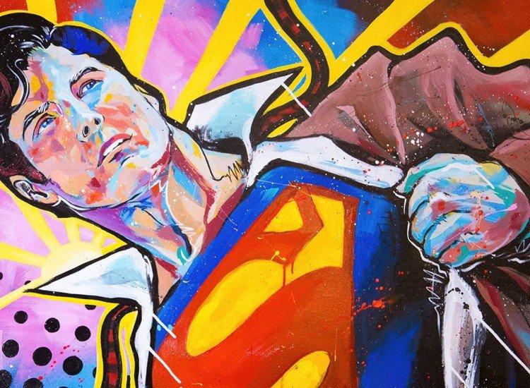 Тийн-Фототапет Супермен Попарт