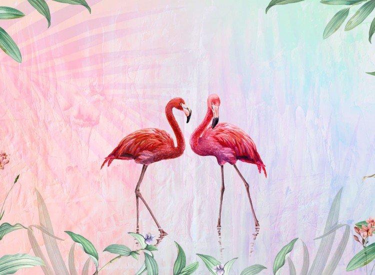Детски фототапети-Фототапет Flamingos