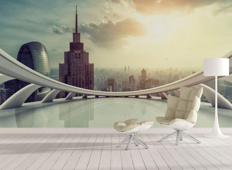 Градски пейзажи-Фототапет Modern skyline