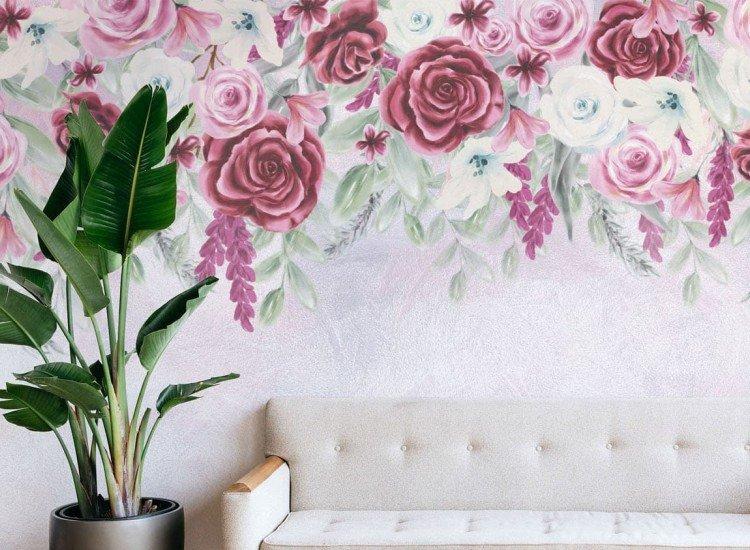 Цветя-Фототапет Винтидж рози