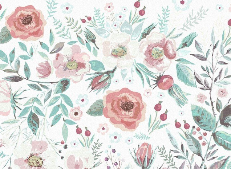 Цветя-Фототапет Пастелни цветя