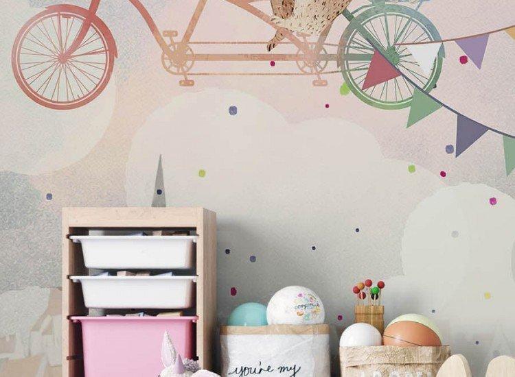 Детски фототапети-Фототапет Цветни колела