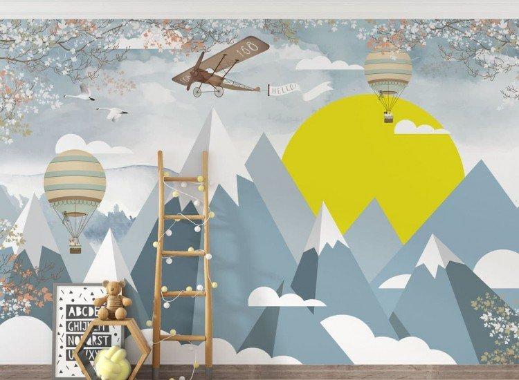 Детски фототапети-Фототапет Aeronave - gray