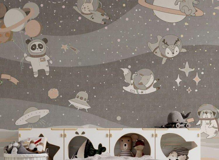 Фототапет Space Animals - brown