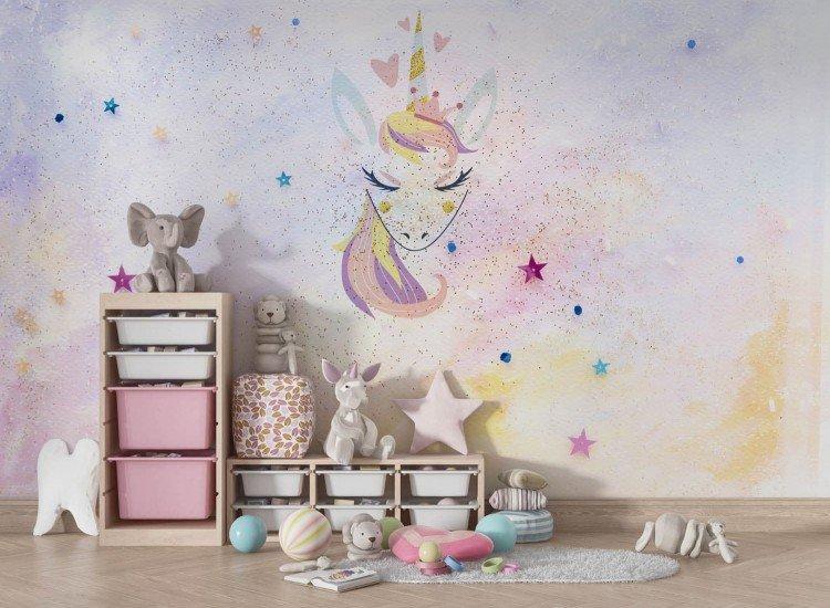 Детски фототапети-Фототапет Miss Unicorn