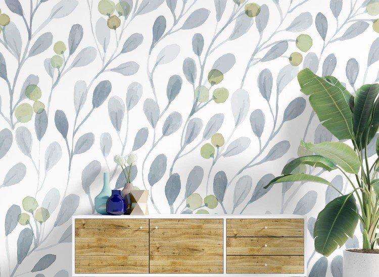 Цветя-Фототапет Ageny - grey