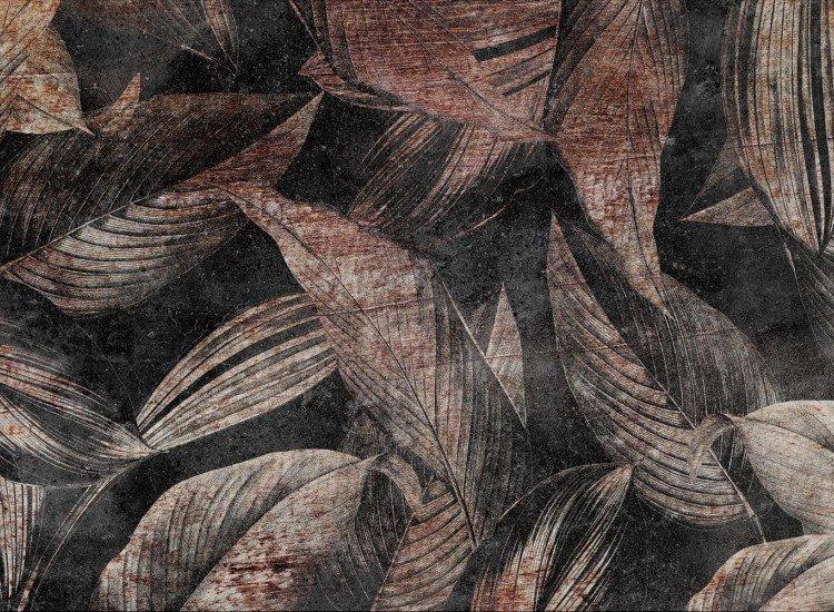 Цветя-Фототапет Foglia - brown