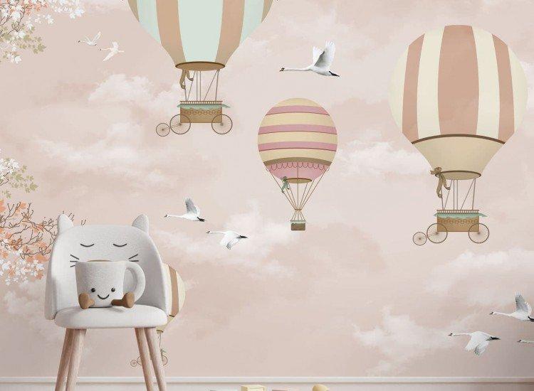 Детски фототапети-Фототапет Балони в небето