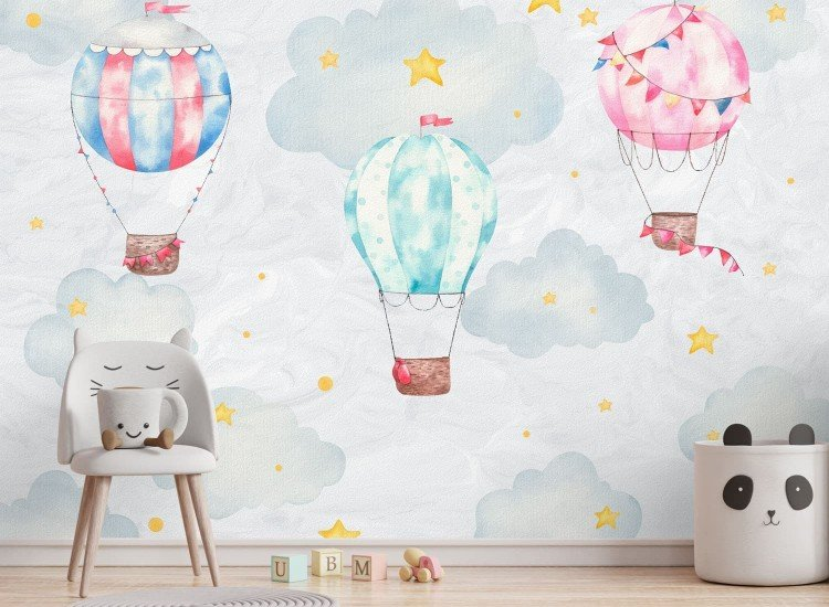 Детски фототапети-Фототапет Акварелни балони