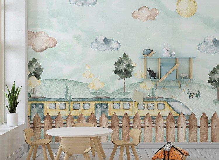 Детски фототапети-Фототапет Train