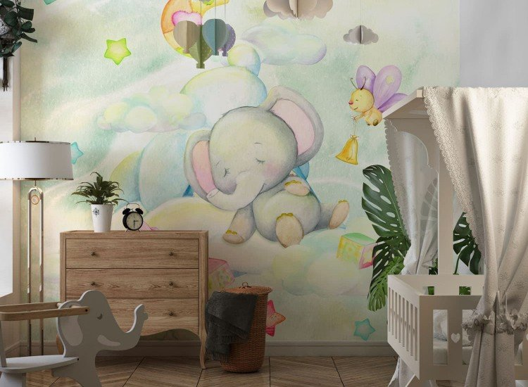 Детски фототапети-Фототапет Спящо слонче