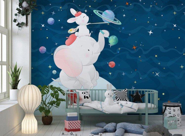 Детски фототапети-Фототапет Космическа рисунка