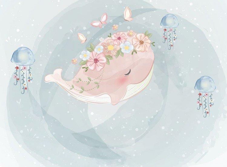 Детски фототапети-Фототапет Розов кит