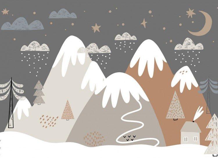 Детски фототапети-Фототапет Снежни планини
