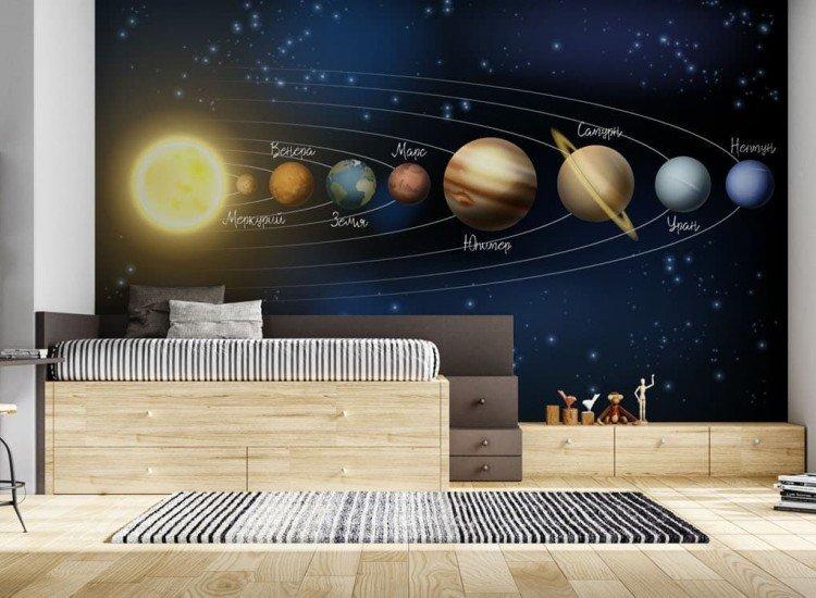 Космос-Фототапет Слънчева система (български език)