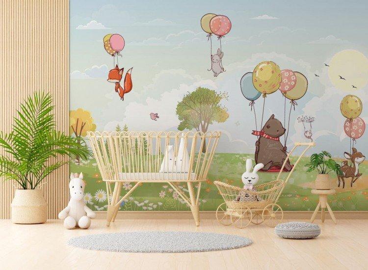 Детски фототапети-Фототапет Des Ballons Forest