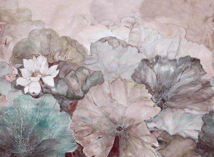 Фототапет Нежни Рисувани Цветя/warm