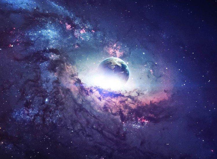 Фототапет Purple Galaxy - Фототапети БГ