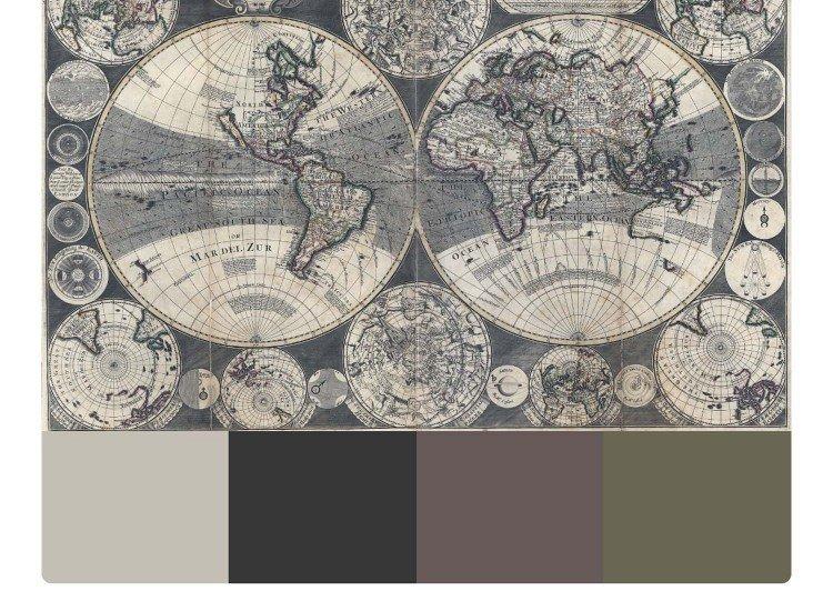 Фототапет Стара карта на света - Фототапети БГ