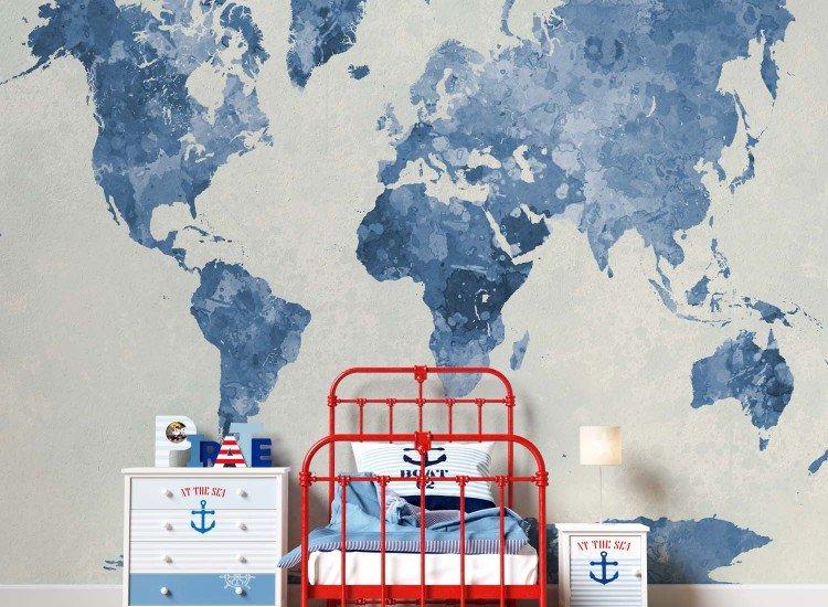 Фототапет Синя карта на света - Фототапети БГ