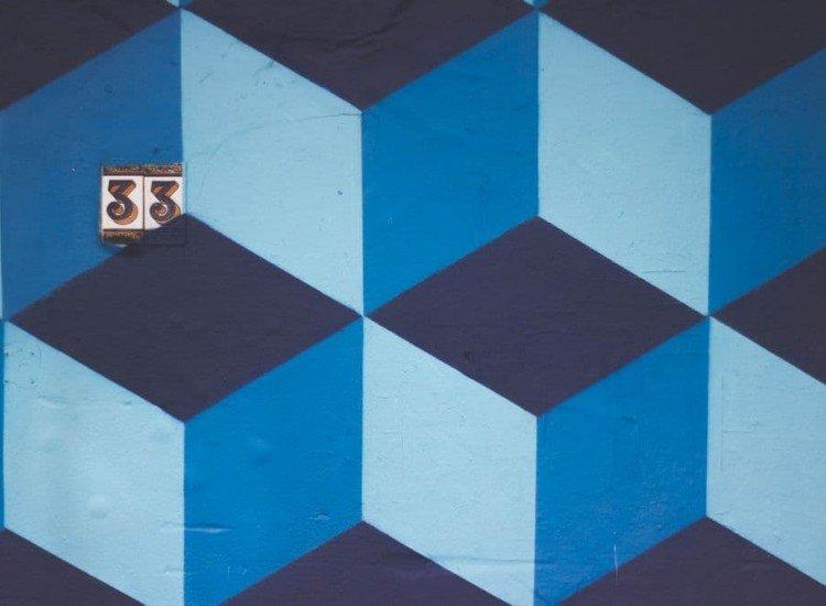 Архитектура-Фототапет Геометрична стена