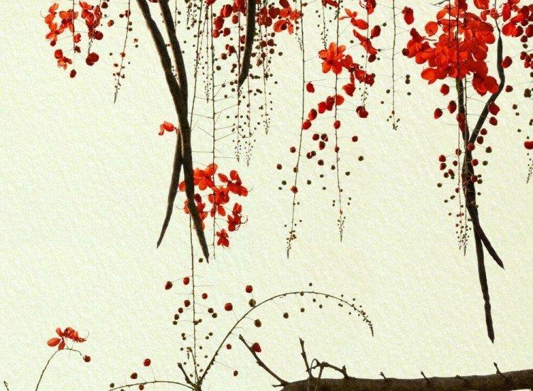 Цветя-Фототапет Цветни клони