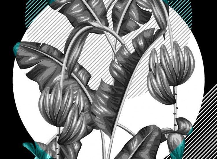 Растения-Фототапет Бананови листа