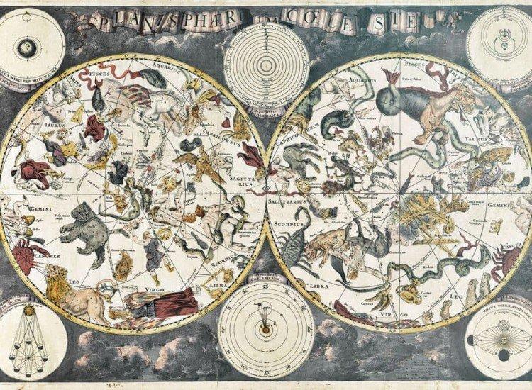 Карти-Фототапет Стара звездна карта