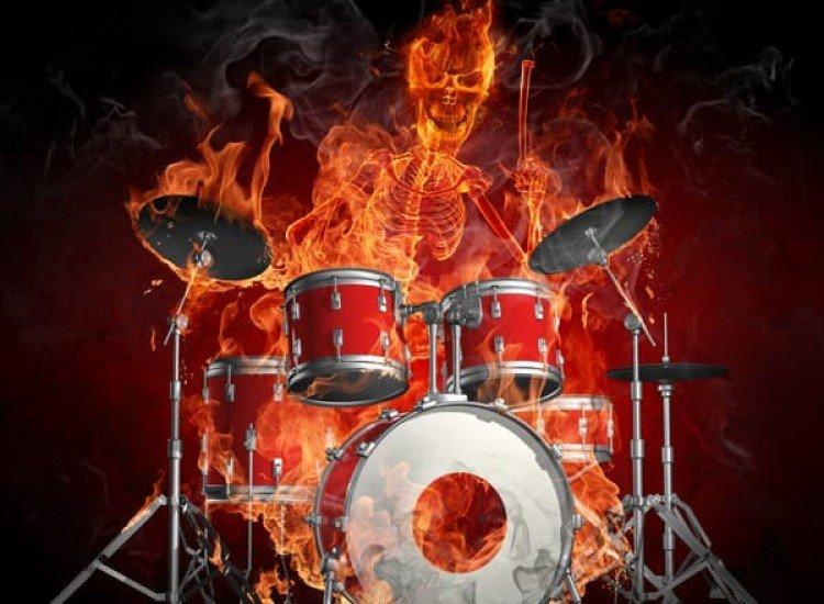 Тийн-Фототапет Огнен барабанист
