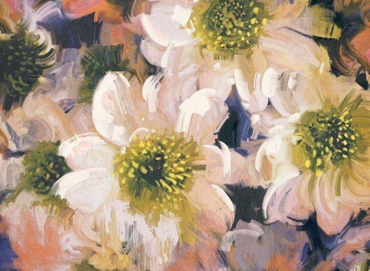Цветя-Фототапет Маслени цветове