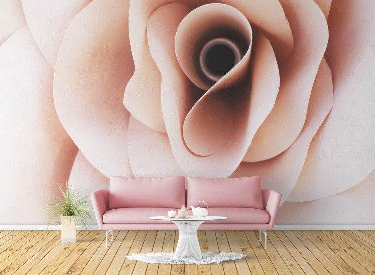 Цветя-Фототапет 3D роза