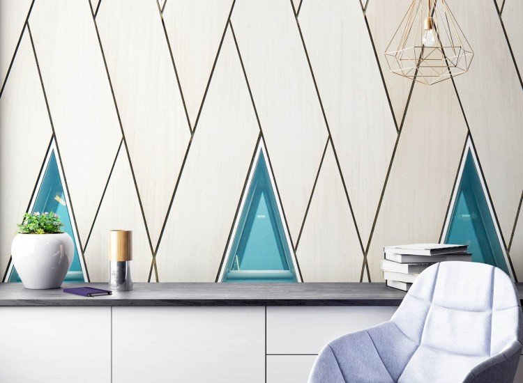 Архитектура-Фототапет Арт триъгълници