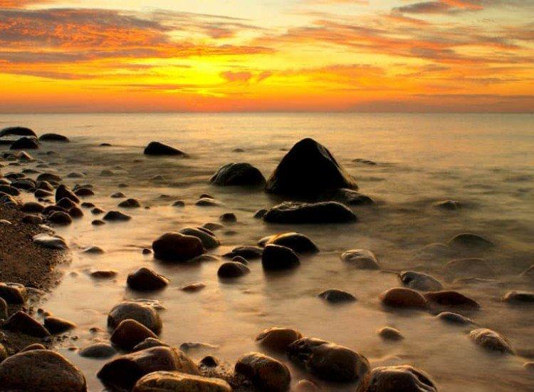 Морски и тропически-Фототапет Вълшебен залез