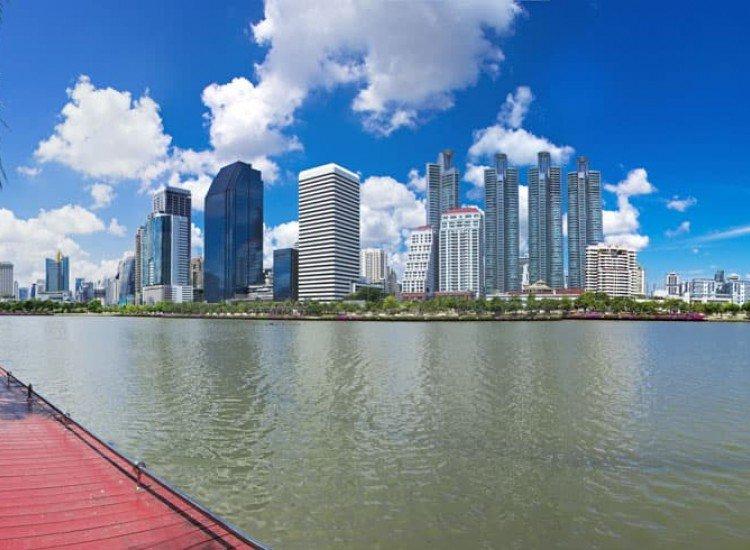 Градски пейзажи-Фототапет Край града