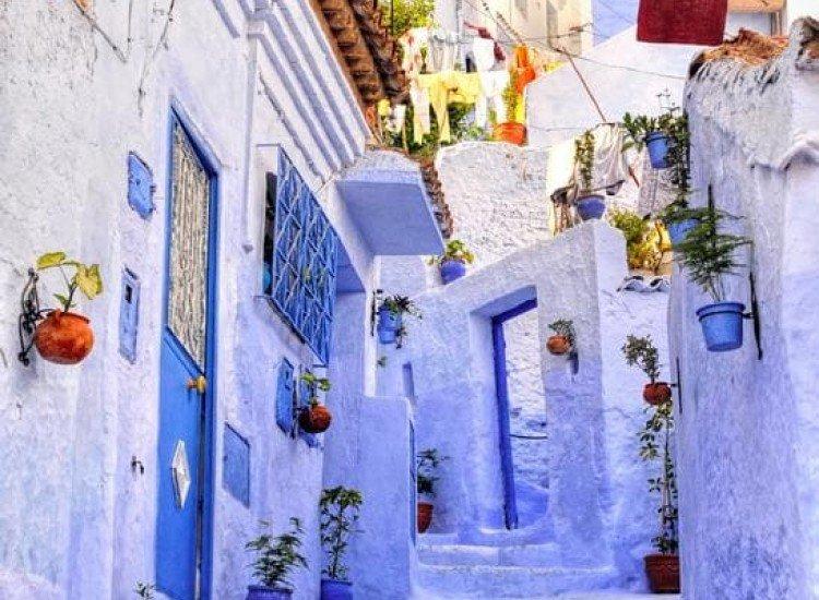 Сгради и забележителности-Фототапет По стълбите из Санторини