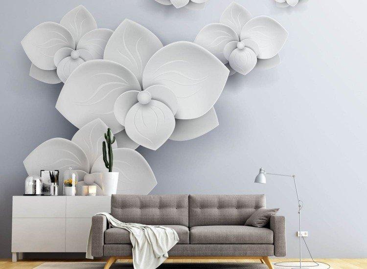 Фототапет 3d Бели орхидеи