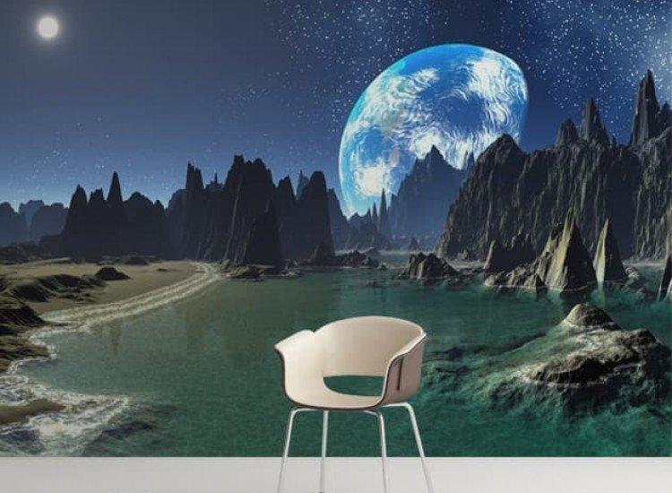 Космос-Фототапет Студена планета