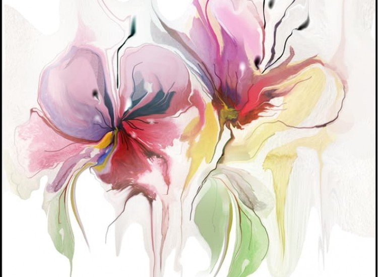Цветя-Фототапет Цветове