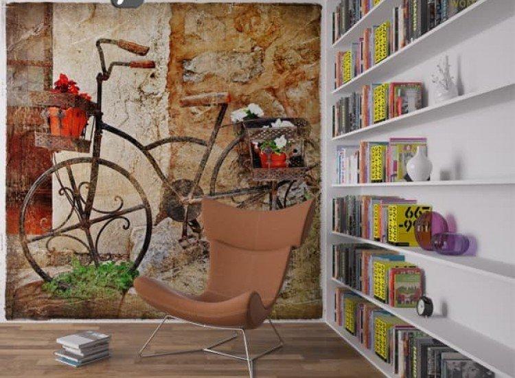 Винтидж фототапети-Фототапет Винтидж колело