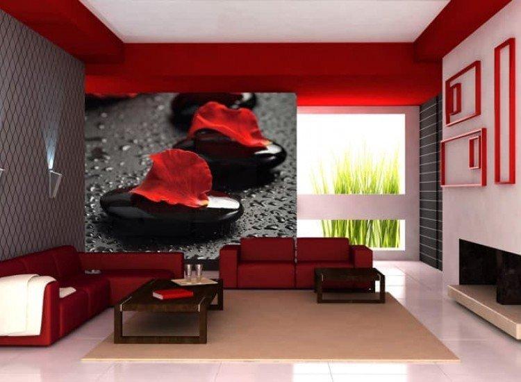 Зен фототапети-Фототапет Червени Листа